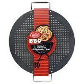 Grilling Non-stick Perforated Pan Pizza Grill 18x15x1