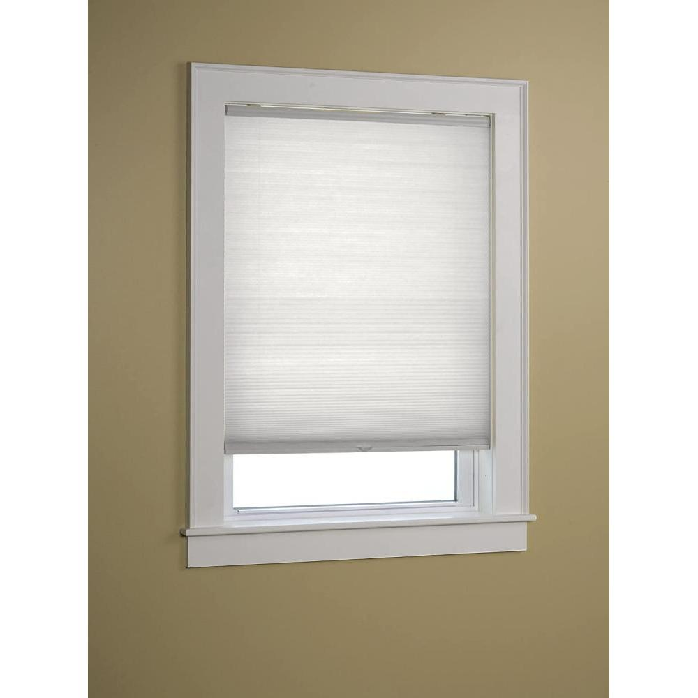 Honeycomb Shade Cordless Light Filtering White 25in X 64in