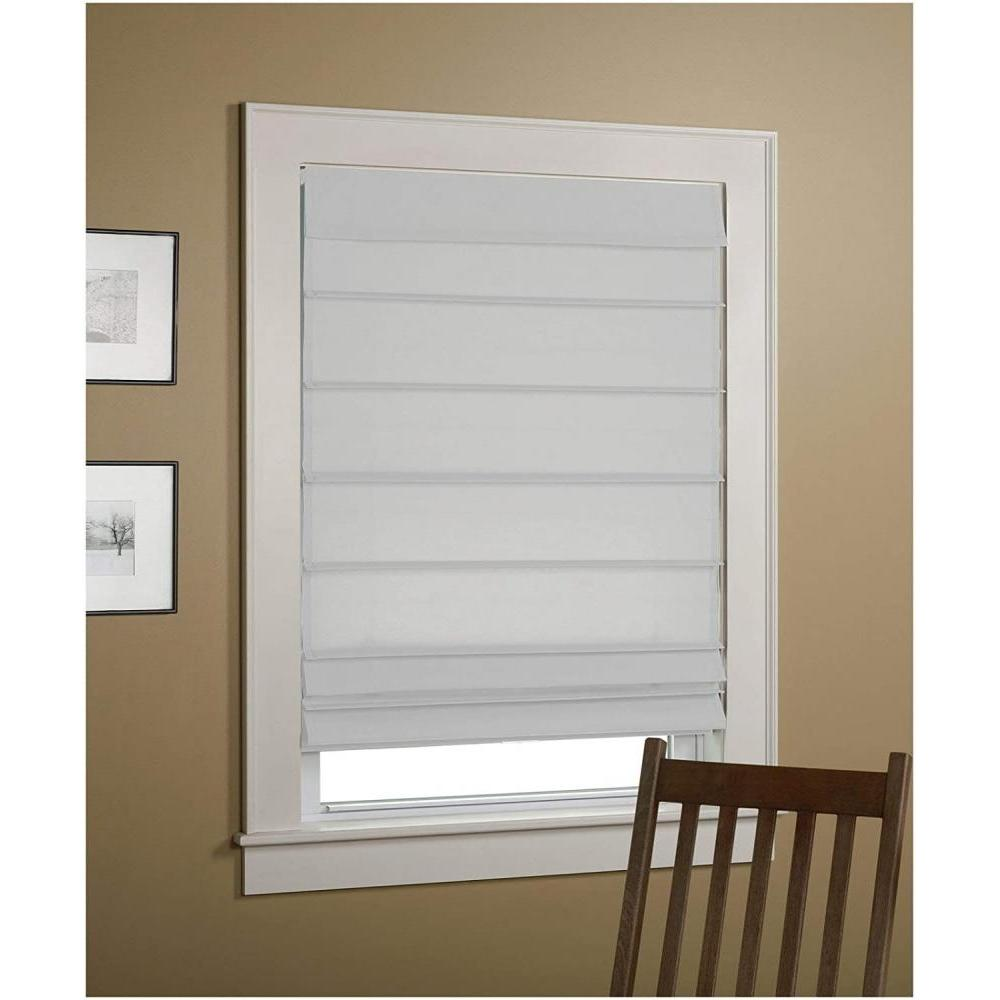 Roman Shade Insulated White 34in X 64in