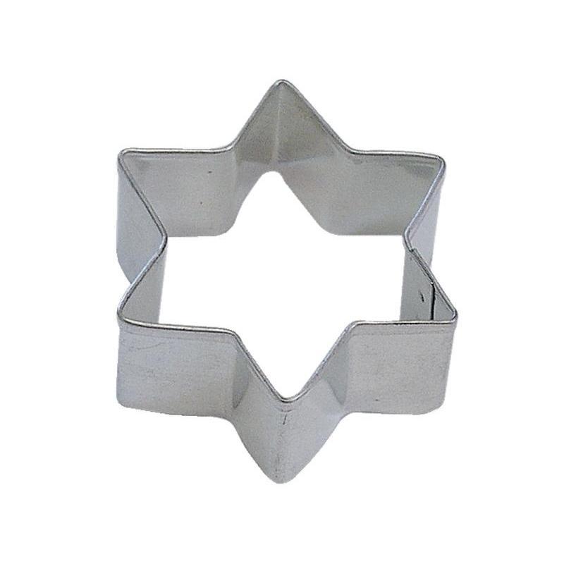 Cookie Cutter Shape Star 6-point Jewish 2inch
