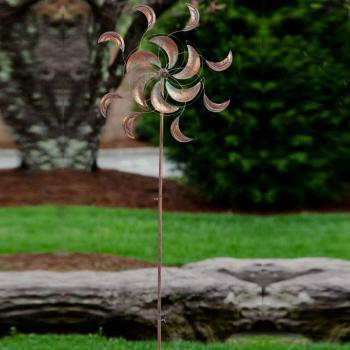 Outdoor Decorative Stake Kinetic Spinner Clouds In Motion