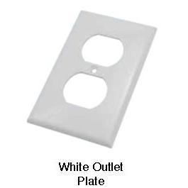 Hardware - Outlet Plate - White