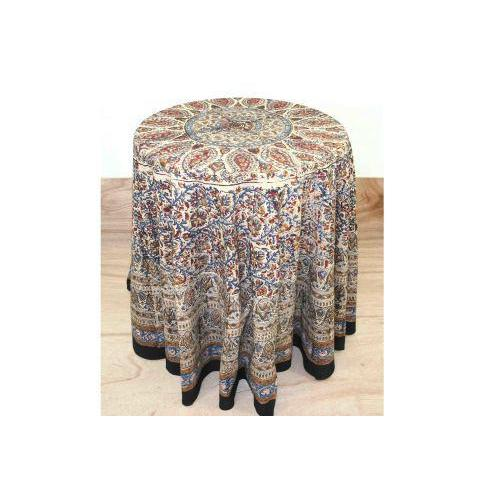 Circle Kalamkari Tablecloth Round 72