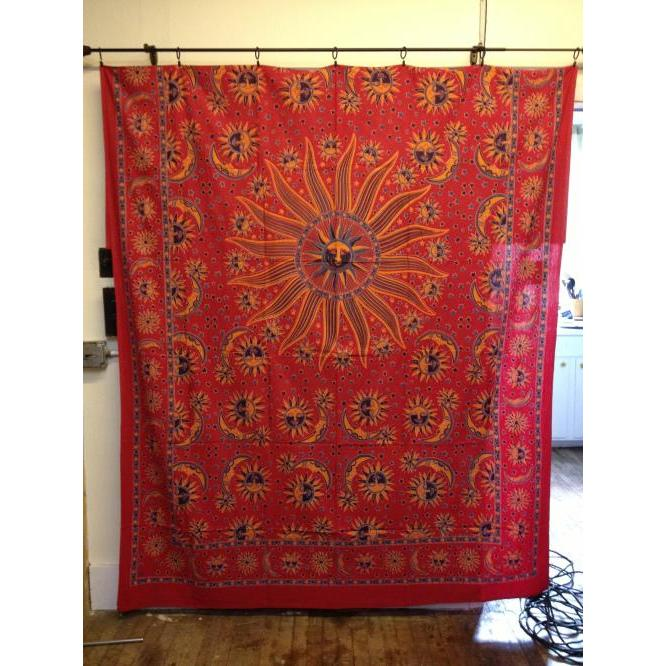 Tapestry Twin Size Celestial Napthol Red