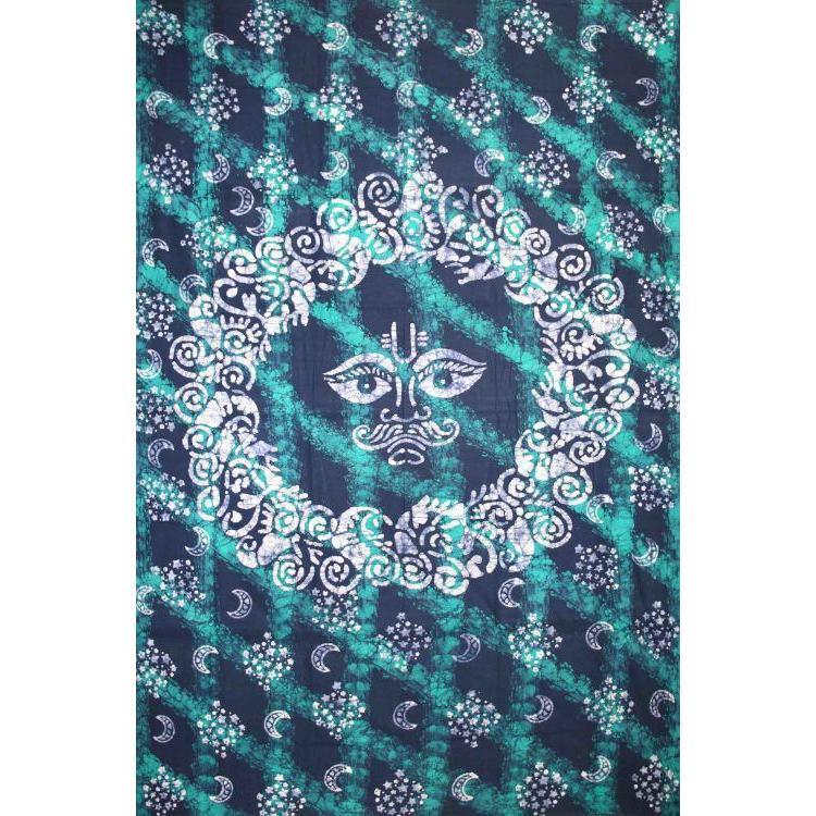 Tapestry Twin Size Celestial Batik Green
