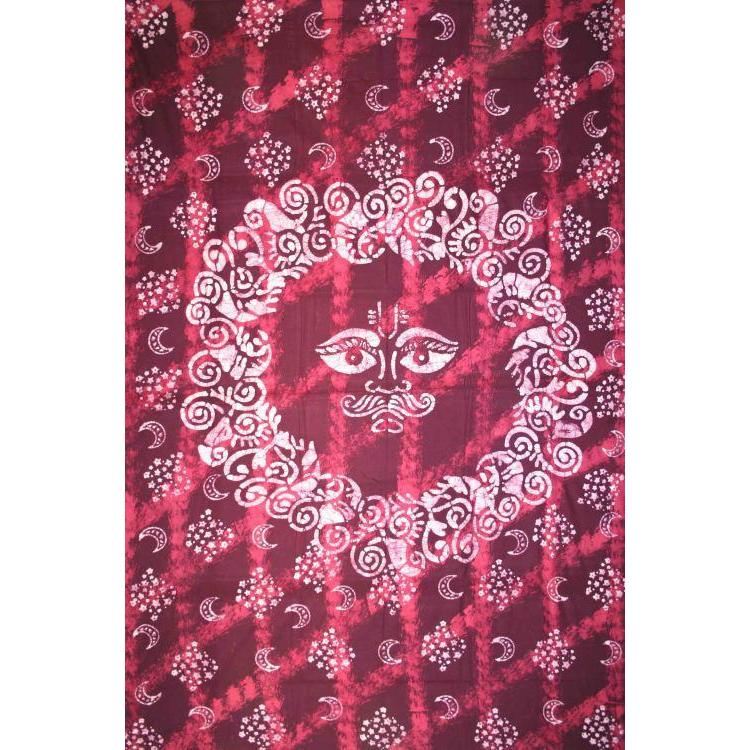 Tapestry Twin Size Celestial Batik Red