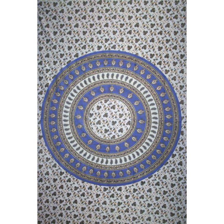 Tapestry Single Size Circle Vine Blue