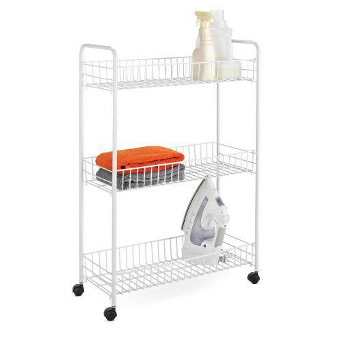 Shelving - Laundry Cart - 3-tier White