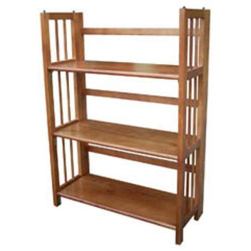 Bookcase Folding 3 Tier Honey Oat