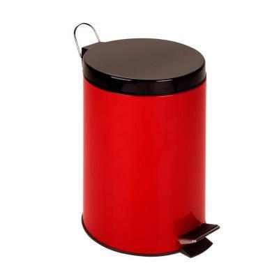 Can Land - 12 L Step Trash Can Red