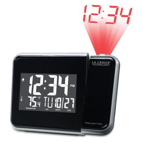 Alarm Clock Projection With Indoor Temperature