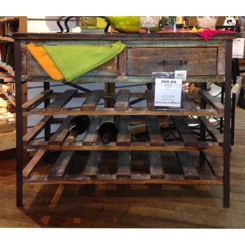 Wine Bottle Holder Standing Cabinet Wood