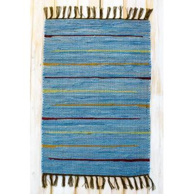 Canyon Stripe 30in X 50in Rug Blue OP