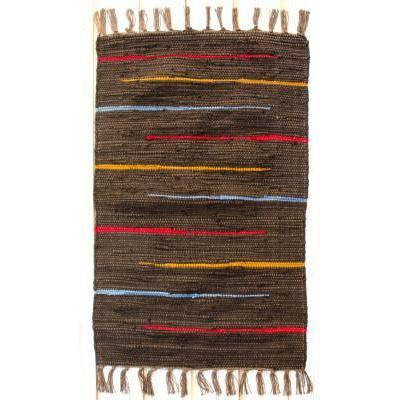 Canyon Stripe 24in X 84in Runner Rug Cocoa