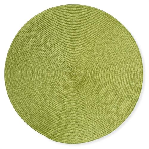 Placemat Round Woven Green ( Sold Separately )