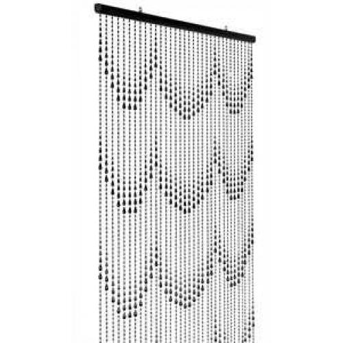 Beaded Curtain Raindrop Black