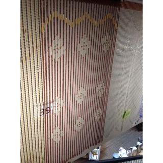 Wood Beaded Curtain Cherry Finish Diamond/benizio
