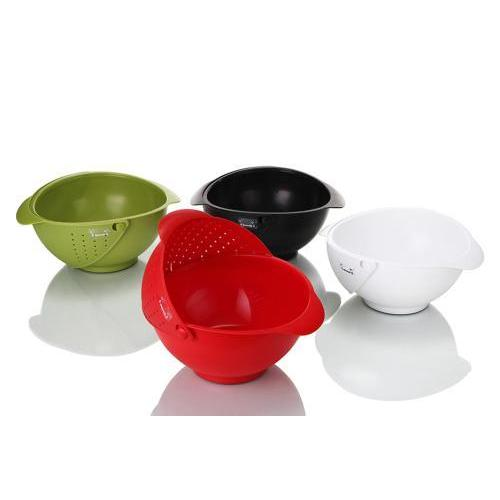Colander Bowl & Strainer Rinse Red