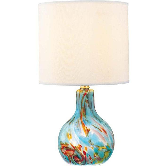 Pepita Aqua Glass Night Light Base Table Lamp
