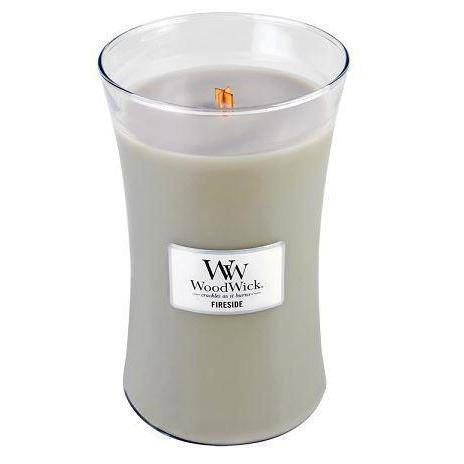 Woodwick Large Candle Jar Fireside 22oz 130 Hour Burn Time