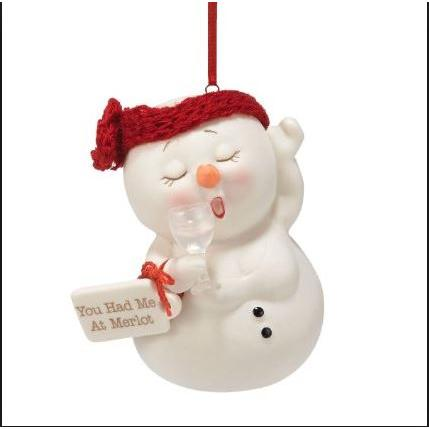 Ornament - Snowpinions - You Had Me At Merlot