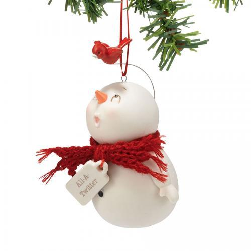 Ornament - Snowpinions All-a-twitter