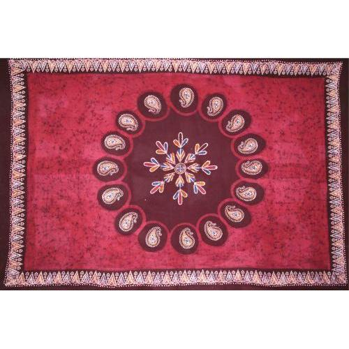 Tapestry Single Size Multi Batik Red
