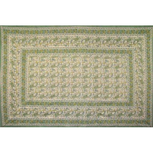 Tapestry Twin Size Rajasthan Paisley Green