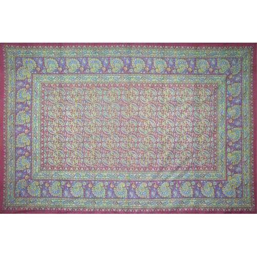 Tapestry Single Size Classic Paisley Burgandy