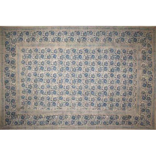 Tapestry Twin Size Veggie Natural Block Blue