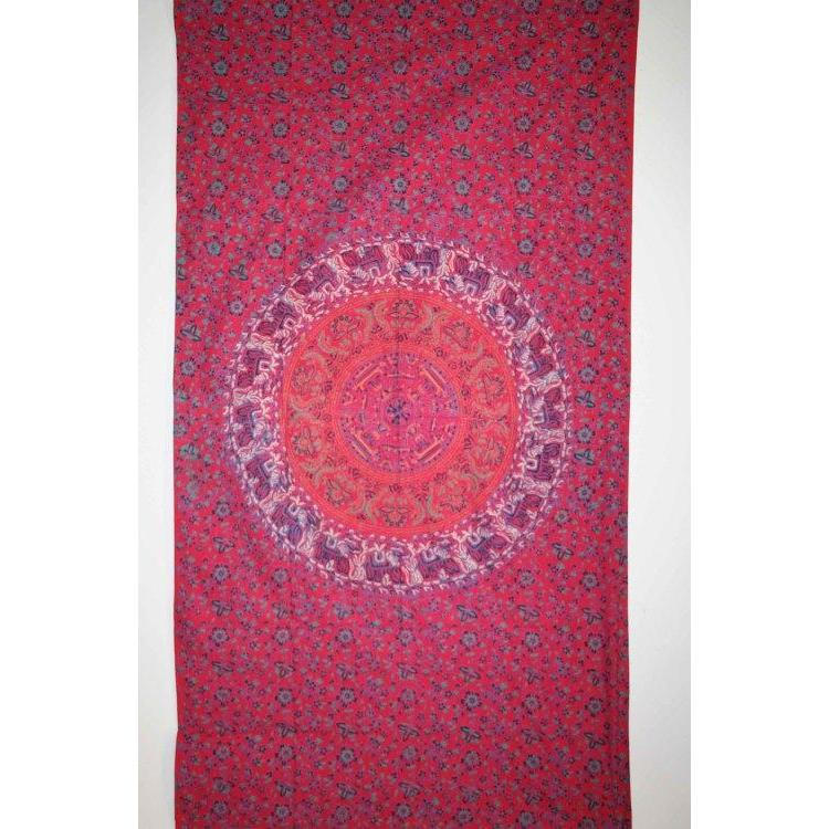 Window Panel Sanganer Red