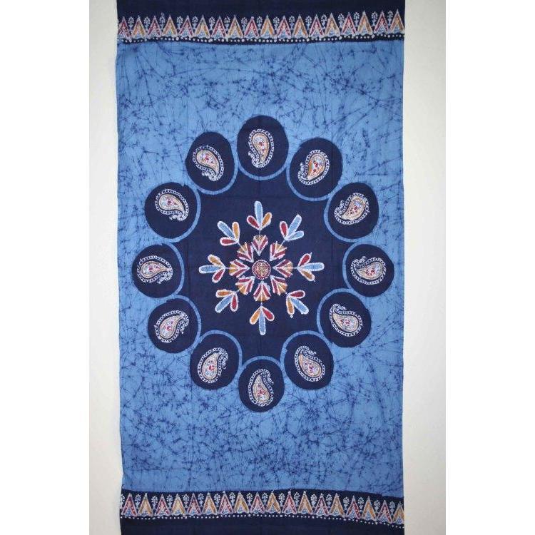 Window Panel Multi Batik Blue