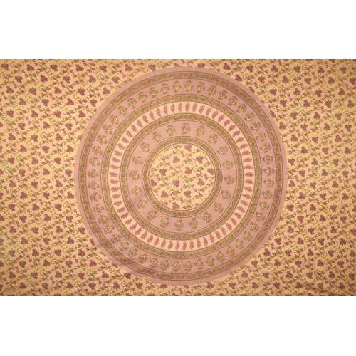 Tapestry Queen Size Circle Vine Brown