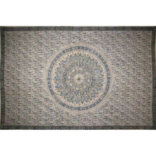 Tapestry Full Size Veggie Circle Block Blue