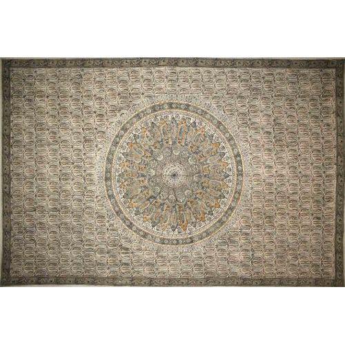 Tapestry Full Size Veggie Circle Block Green
