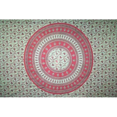 Tapestry Queen Size Circle Vine Red/green