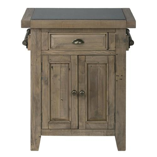 Slater Mill Reclaimed Pine Kitchen Island Granite Top