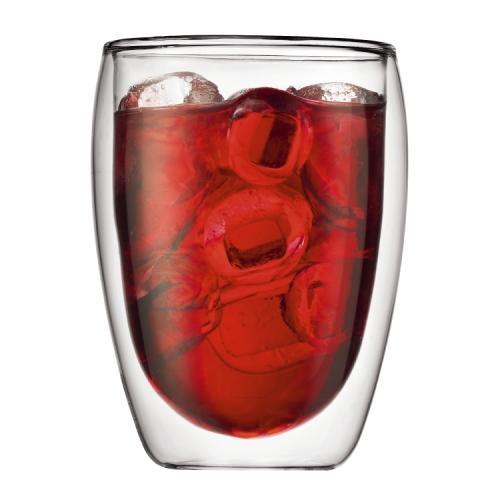 Coffee Mug Glass Double-wall \'pavina\' 12oz Tall Set Of Two (11.99ea)