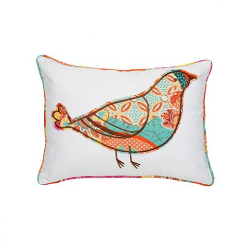 Zanzibar Bird Pillow 14in X 18in