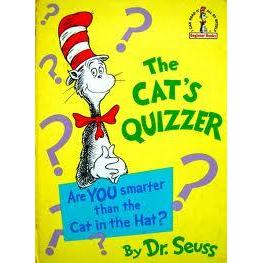 Dr. Seuss Book Cat\'s Quizzer 6.5x9