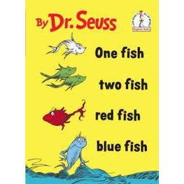 Dr. Seuss Book One Fish Two Fish Red Fish Blue Fish 6.5x9