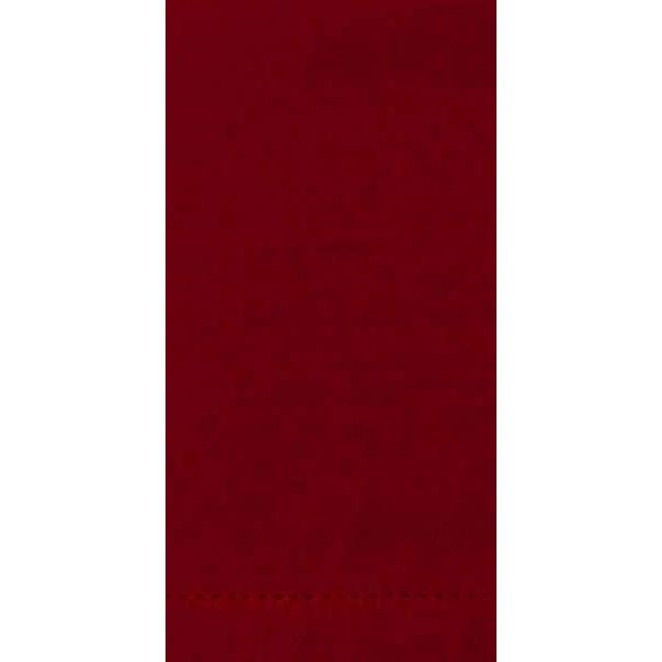 Napkin Hemstitch Red-cranberry
