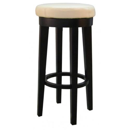 Cameron Barstool 30in Round Swivel Bonded Leather Beige