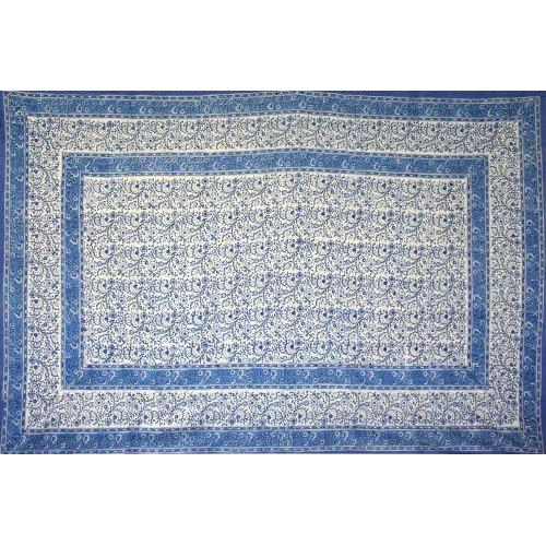 Tapestry Twin Size Rajasthan Print Blue Assorted