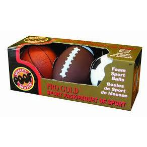 Balls Pro Gold Mini Sport Pack Of 3