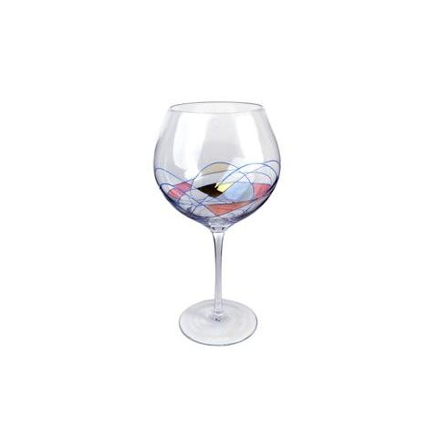 Drinkware Glass Helios Stained-Glass Wine Grand Balloon 32oz