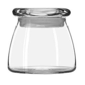 Jar Vibe Tapered Glass With Flat Lid  12.25 Ounce