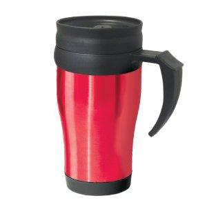 Travel Tumbler commuter Handled-mug Stainless Steel Red
