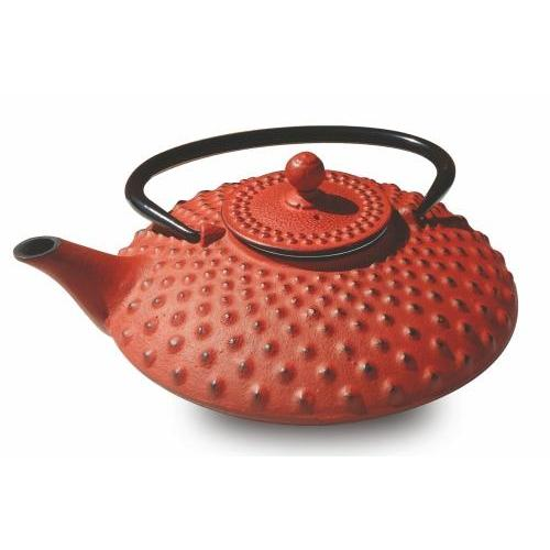 Teapot Cast Iron Amity 26oz. Tetsubin Cast Iron Red