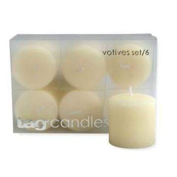 Votives (6pack) Ivory Burn Time 5hours